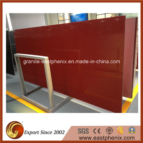 High Quality Sparkling Red Quartz Stone for Big Slab