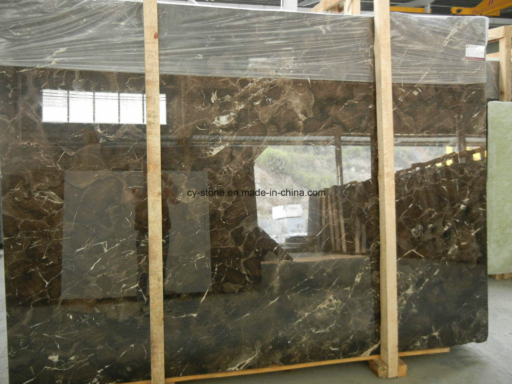 Chinese Dark Emperador Marble Slab for Flooring/Wall Tile