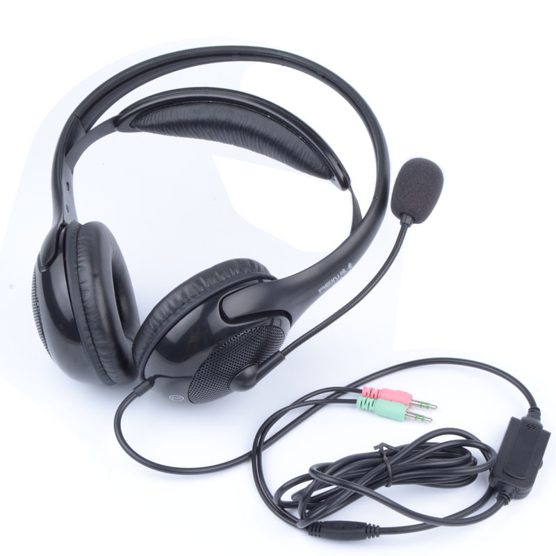 Computer 3.5mm Jack Wired Headset for Call Center (RH-K133-007)