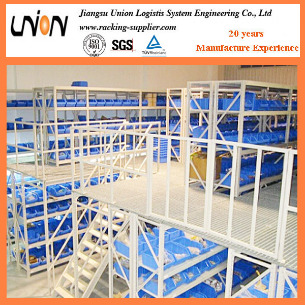 Steel Construction Platform with Square Column Support