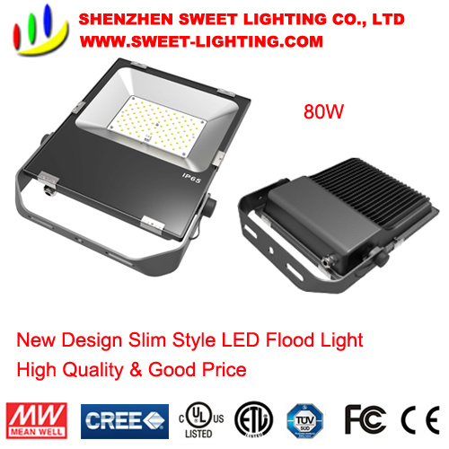 New Slim Top Quality 80W LED Flood Light