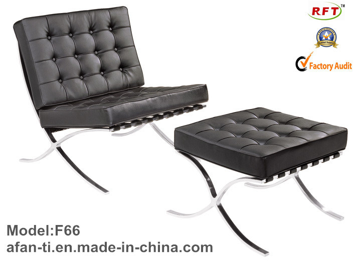 Modern Ergonomic Leather Hotel Leisure Lounge Recliner Chair (F4D)