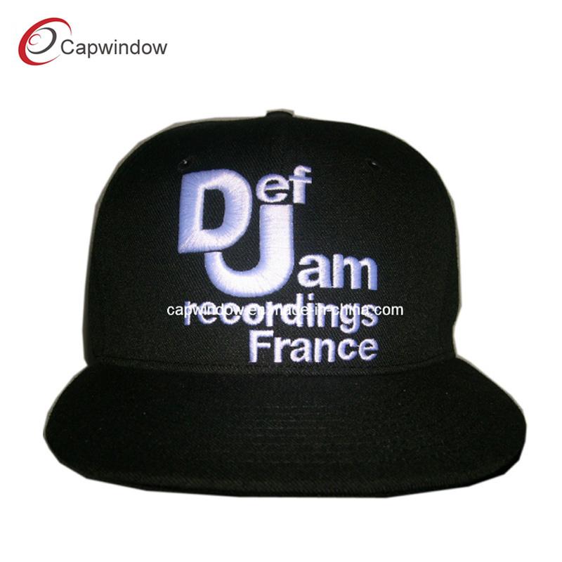 Flat Bill Classic Snapback Embroidery Hat (CW-0018)