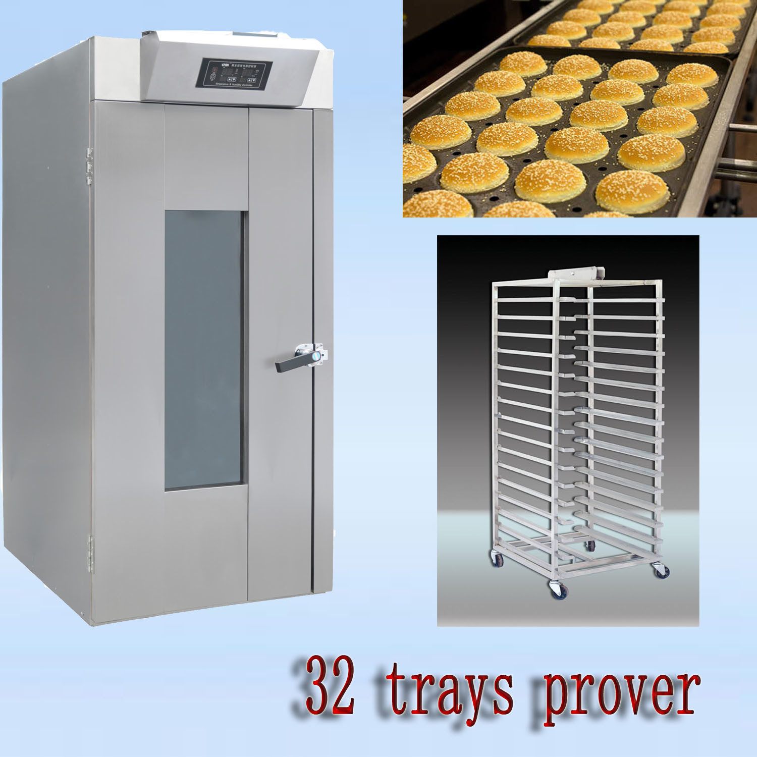 64 Trays Prover/Bread Prover/Fermenting Box/Food Machine/Oven/Bread Machine/Kitchen Equipment