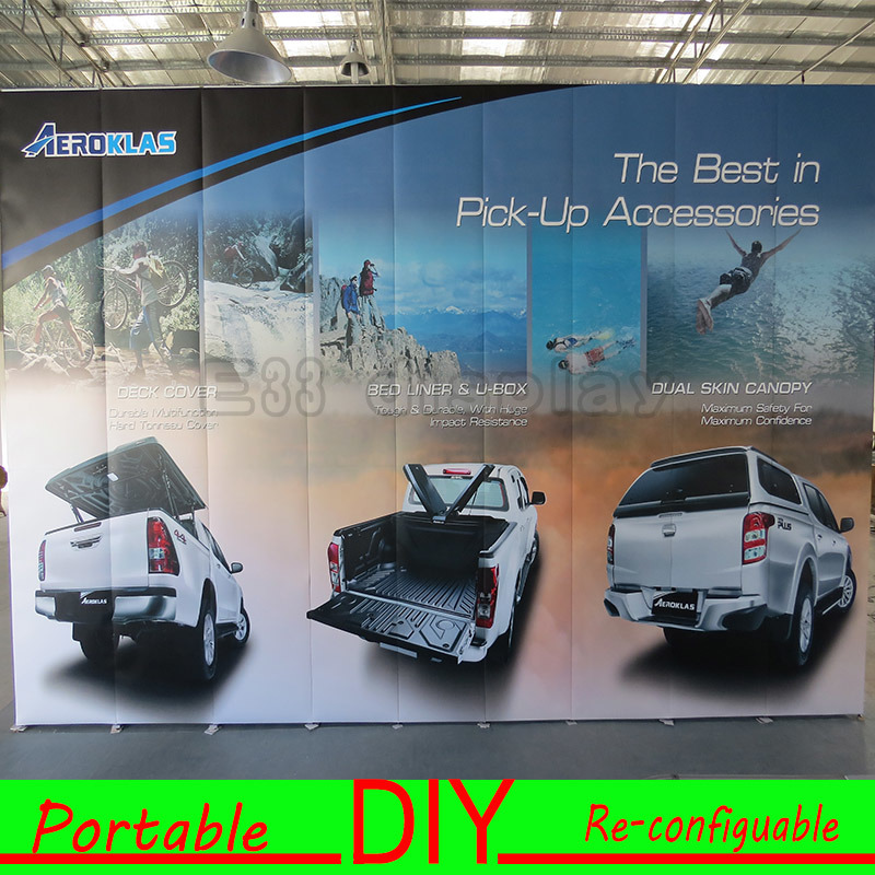 Custom Portable Modular Trade Show Exhibition Display System Backwall