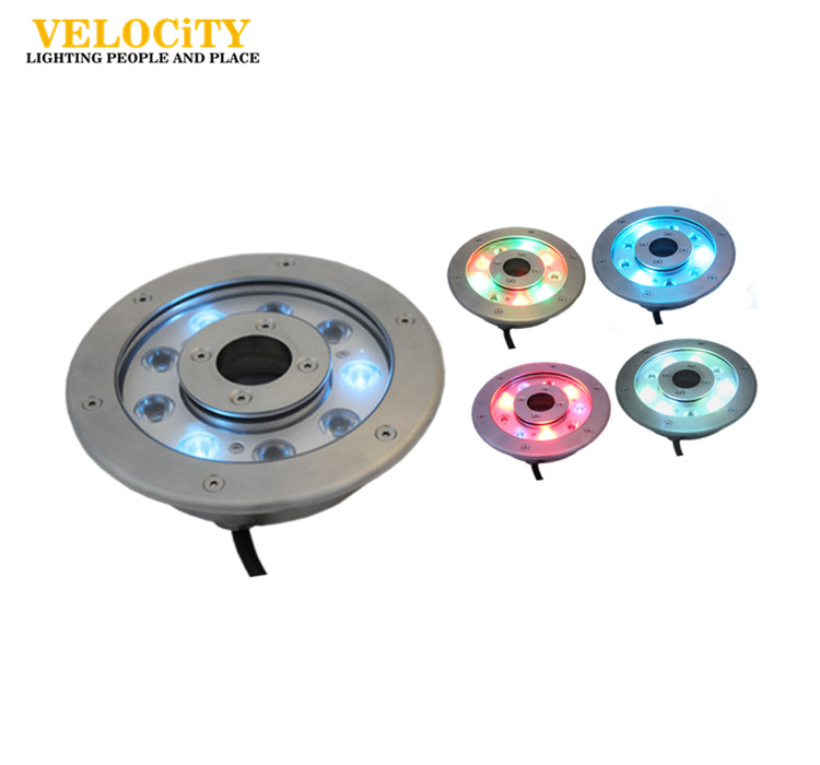 RoHS Approved Stainless Steel 9W IP68 RGB LED Fountain Light