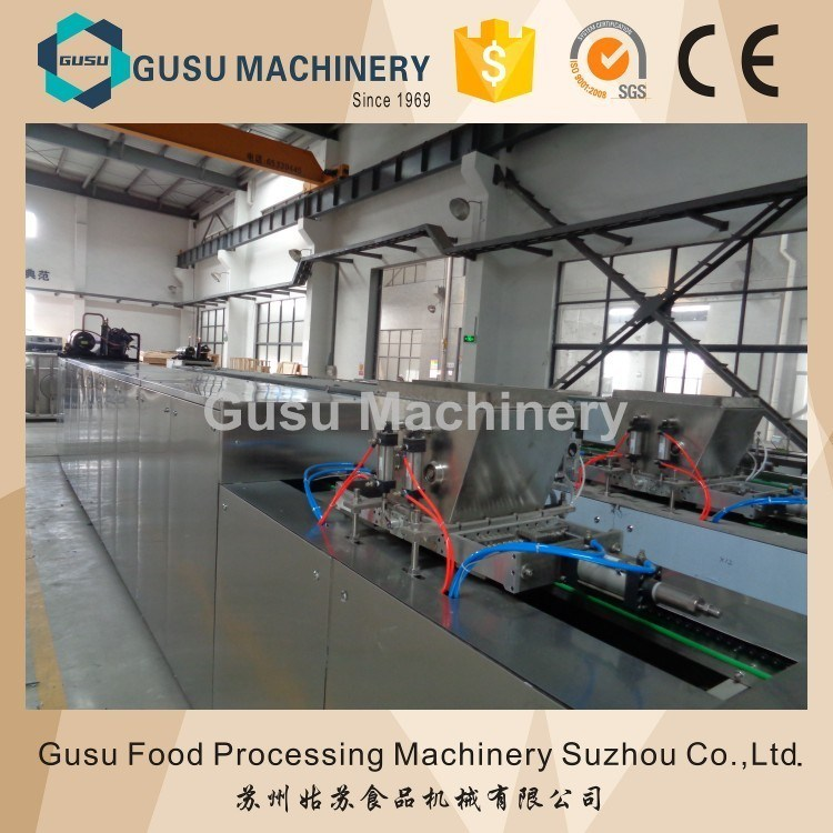 SGS Gusu Center Filling Chocolate Bar Moulding Depositing Machine
