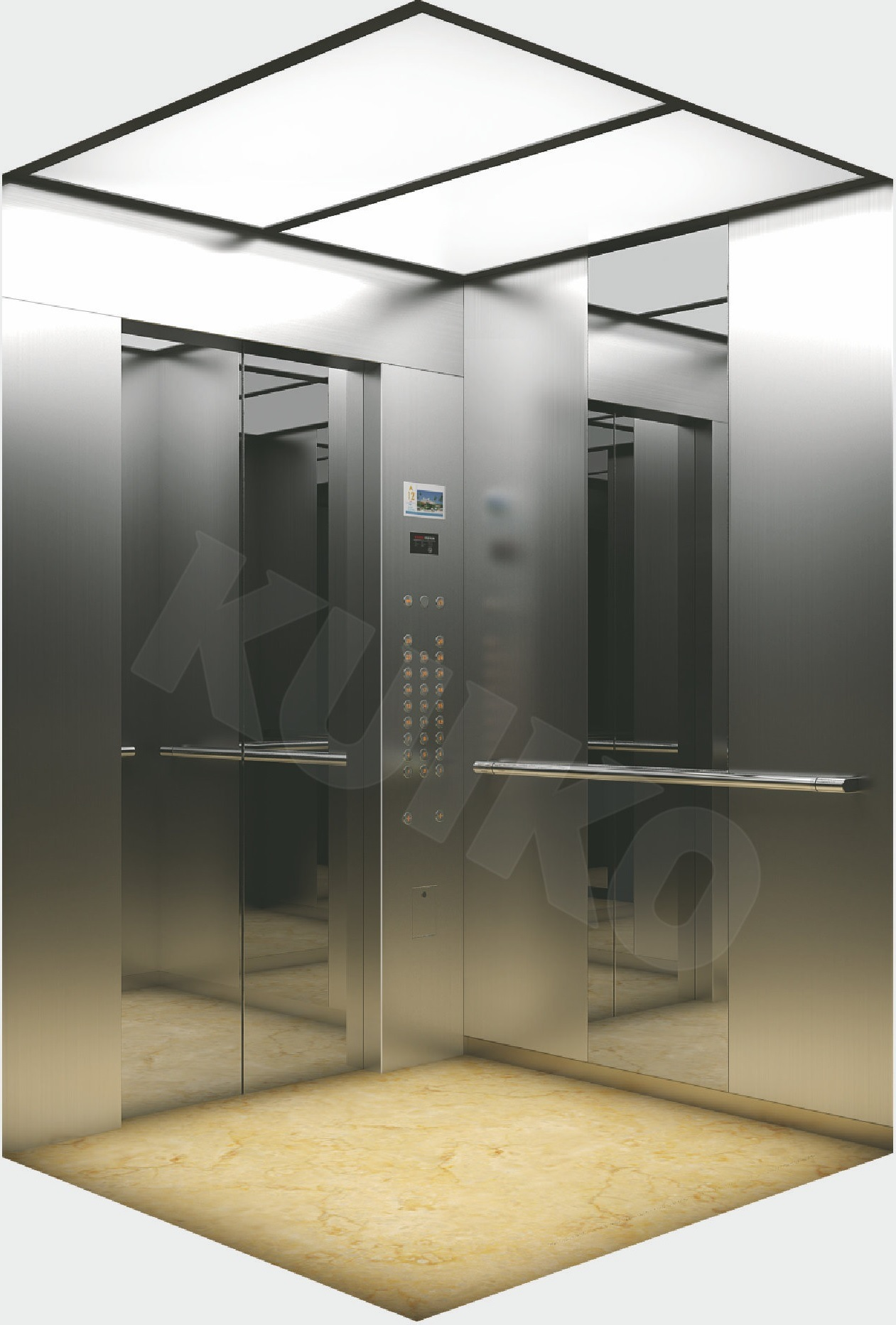 Kjx-Z03 Residential Elevator Hairline Sts and Mirror Sts Car