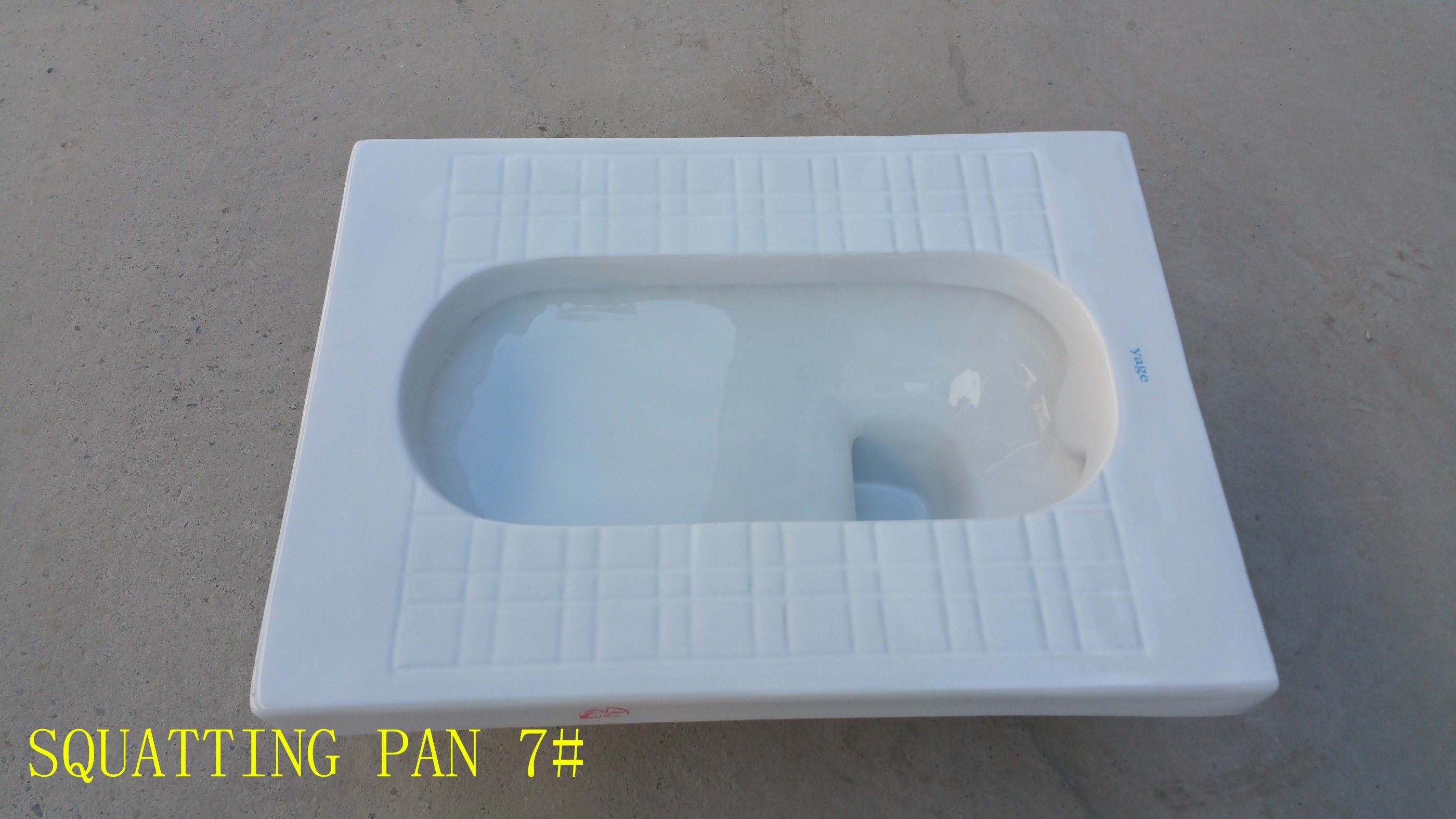 Hot Ceramic Water Saving with S-Trap Squatting Pan 7#