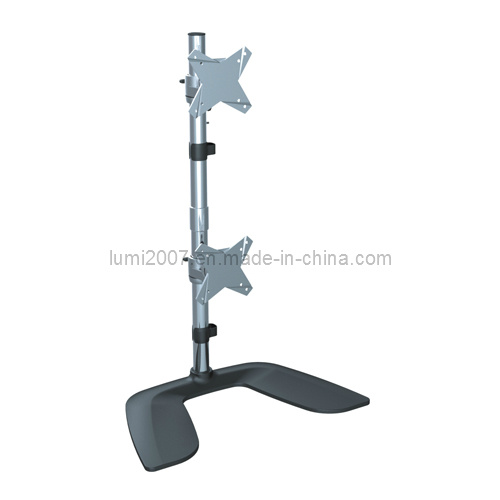 Vertical Structure Lcd Tv Table Mount With Two Vesa Plates
