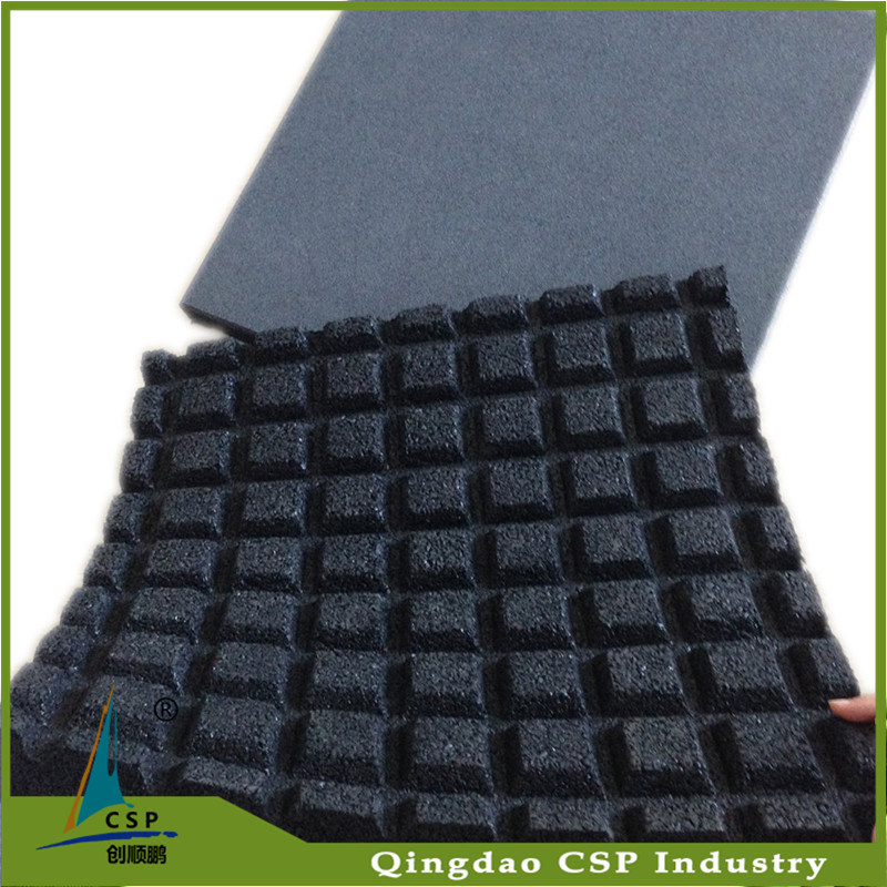 15mm Black Rubber Flooring for Weightlift