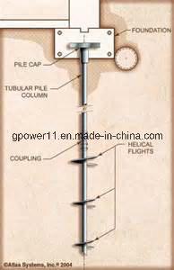 Round Shaft Earth Screw Pile Screw Anchor