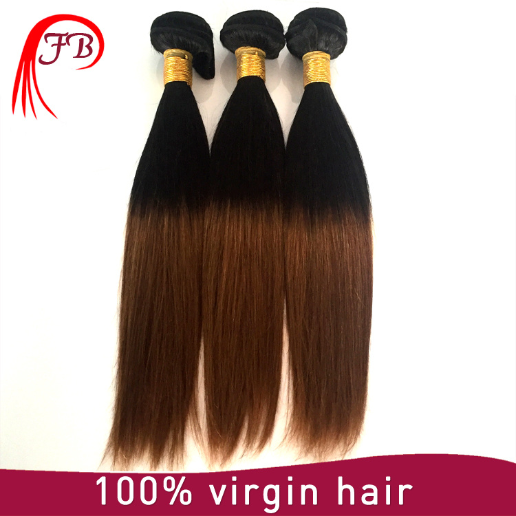 Hot Selling! Manufactory Raw Hair Extensions Cheap Ombre 1b 30 7A Brazilian Unprocessed Virgin Hair Hand Weft on Sale