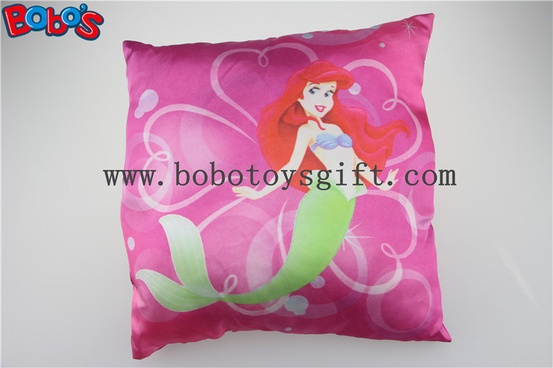 High Quanlity Pillow Case Soft Baby Cushion with Printting Little Mermaid Girl