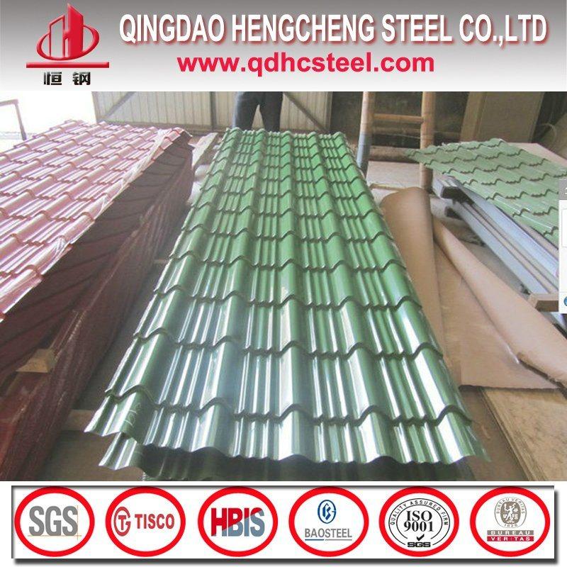 PPGI Glazed Roof Tile/Color Roofing Sheet/Prepainted Corrugated Steel Sheet