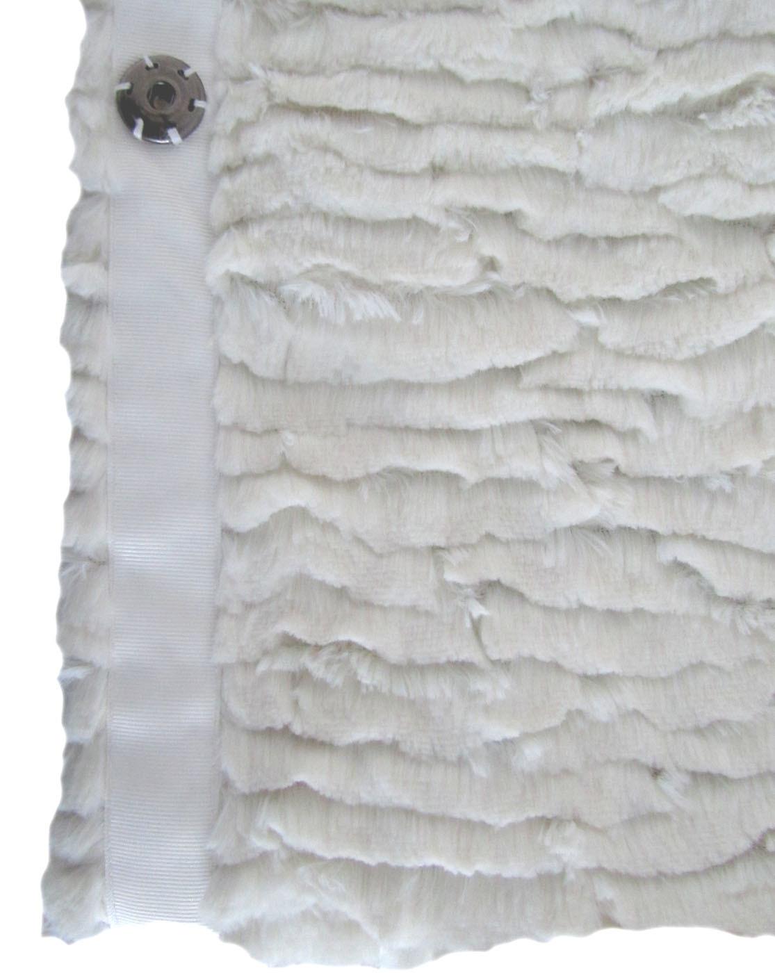 Women Long Faux Fur Fake Fur Coat with Buttons