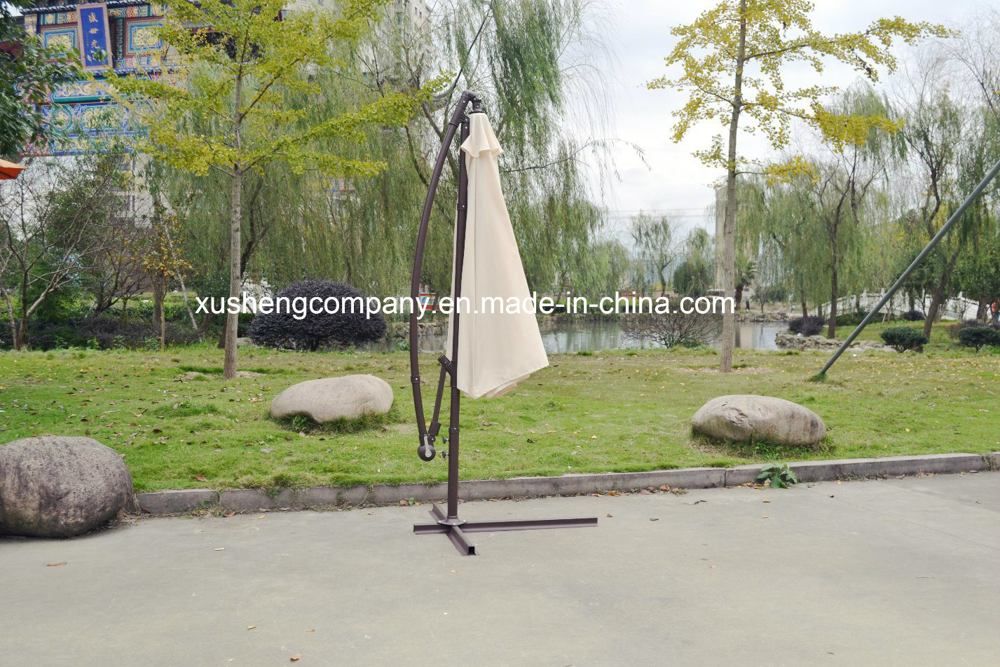 10FT (3M) Outdoor Garden Patio Steel Umbrella Parasol
