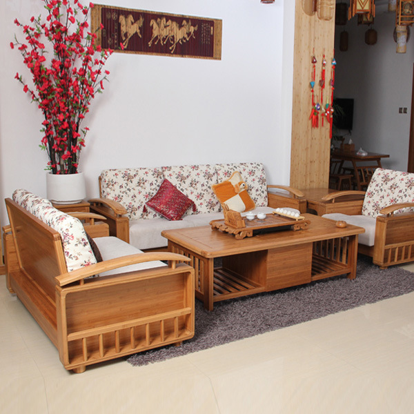 China Modern Design Bamboo Sofa Set For Bamboo Furniture China