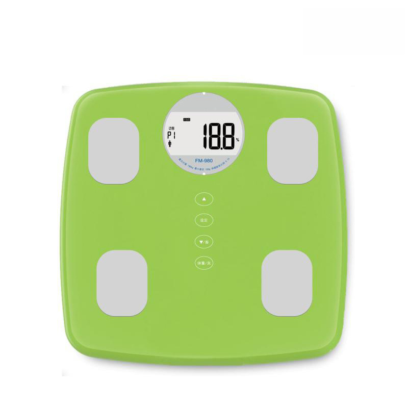 Large LCD Display Electronic Body Fat Scale with Strong Metal Base