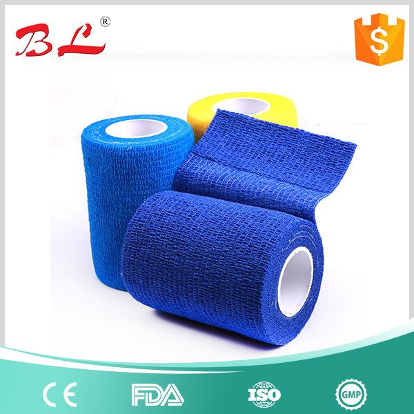 "2""X5yd Tan Flesh Cohesive Bandage Self Adherent Elastic Wrap Latex"