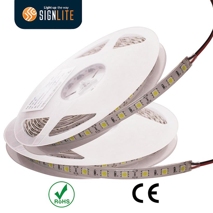 Factory 300LEDs/ 60LED/M Warm White SMD5050 Flexible LED Strip