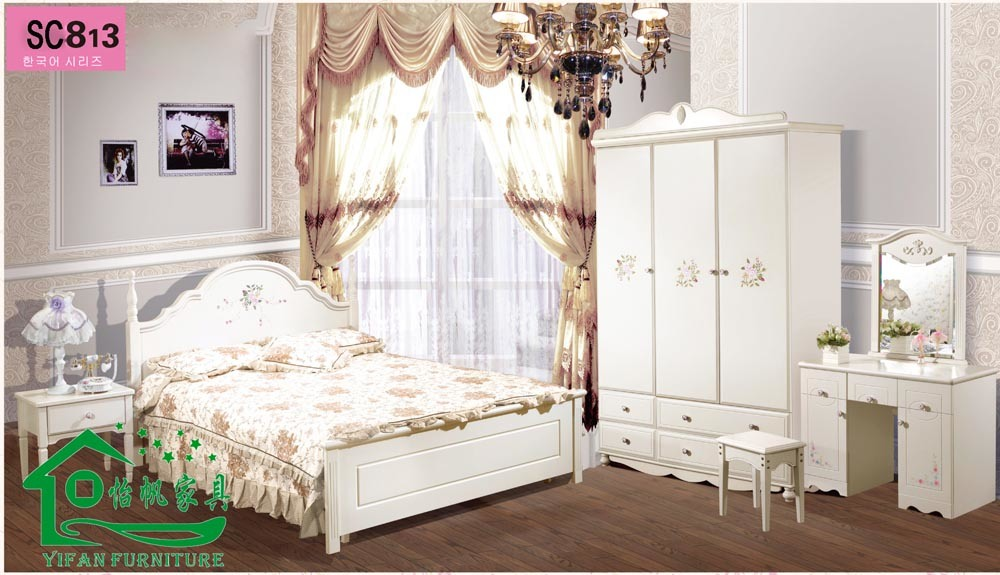 Lit blanc de la chambre coucher furniture child d for Chambre a coucher pour bebe