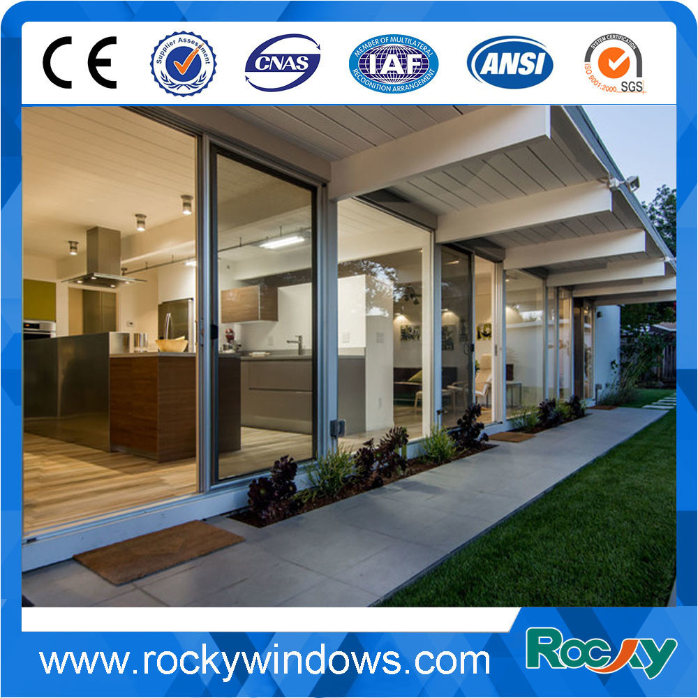 Commercial System Double Glass Aluminum Sliding Door