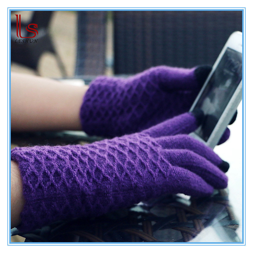 New Knitting Phone Soft Touch Screen Gloves Wholesale