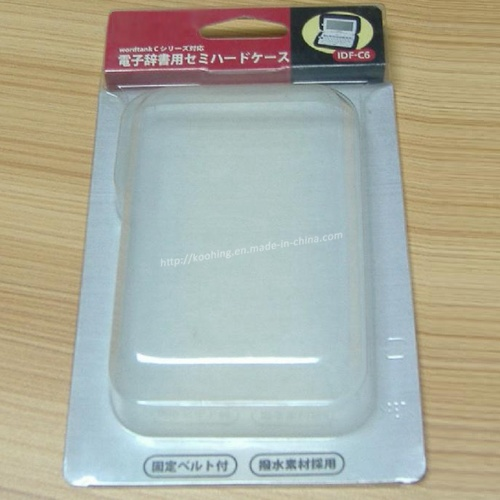 Clear Plastic Clamshell for Electronic Dictionary Packaging