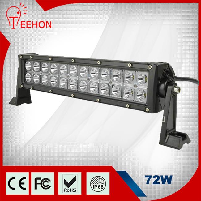 "3.5"" Double Row Waterproof Black Housing 72W Bar Lighting LED"