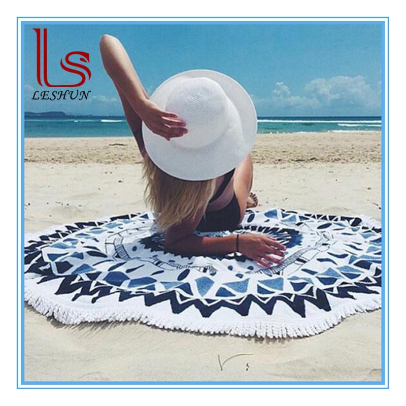 Various New Microfiber Round Mandala Tassels Beach Towels