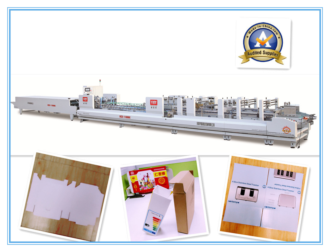 Xcs-1100DC Automatic Folder Gluer Corrugated Box Machine