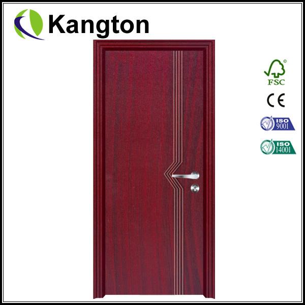 PVC Bathroom Door Glass Panel (PVC door)