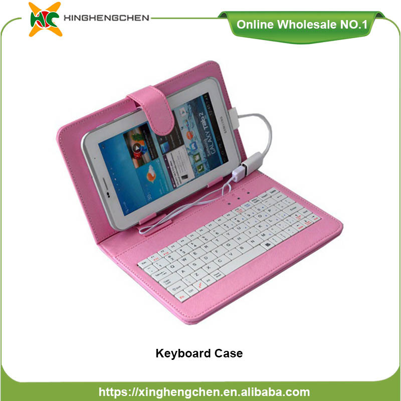Colorful Leather Case 7.0 Inch Keyboard Case for Samsung Tablet Computer