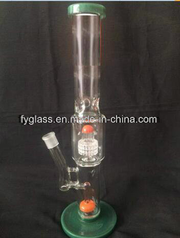 Multi Color Glass Water Pipe with Color Matrix Perc