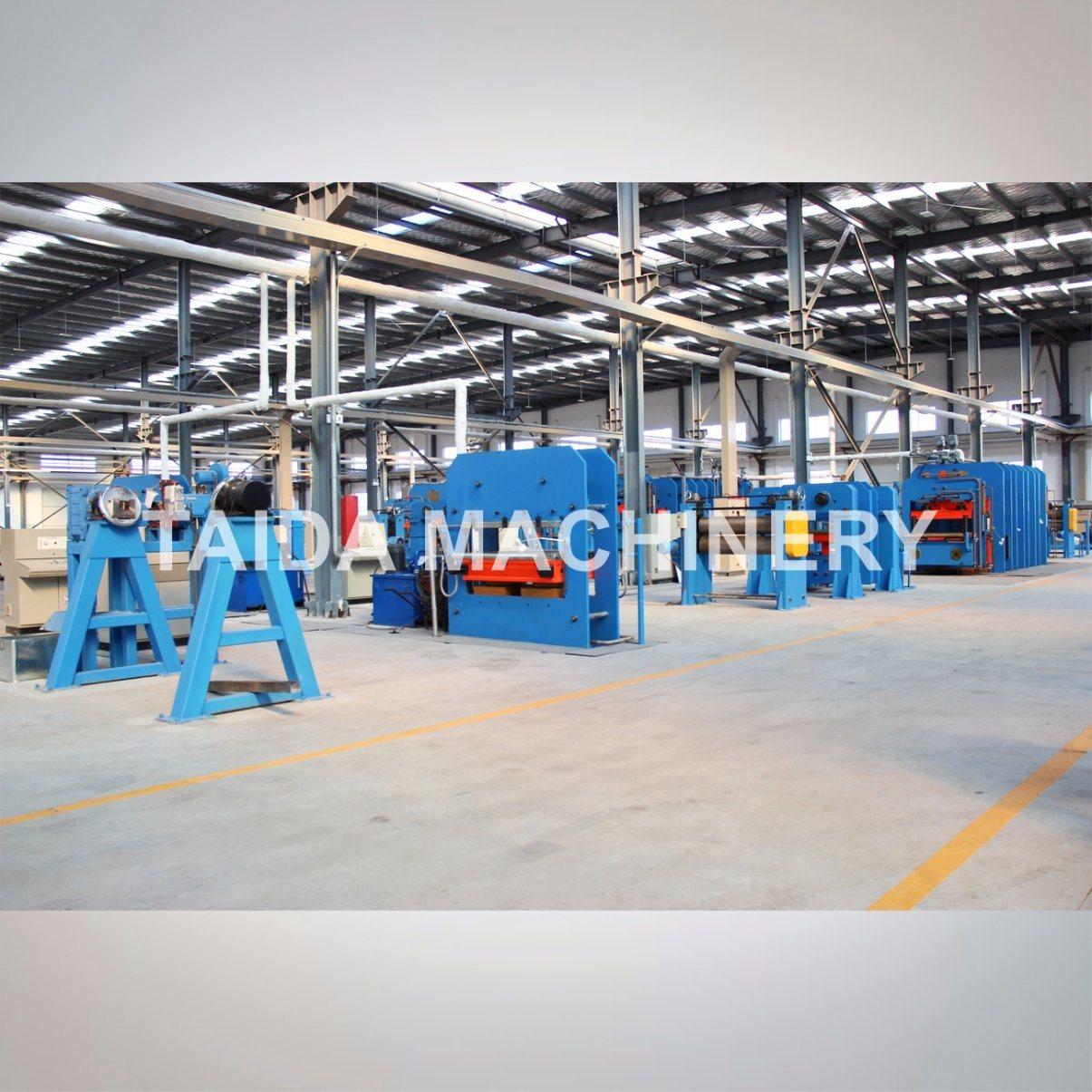 PLC Controlled Steel Cord Rubber Conveyor Belt Vulcanizing Press Platen Hydraulic Curing Press Vulcanizer Machine