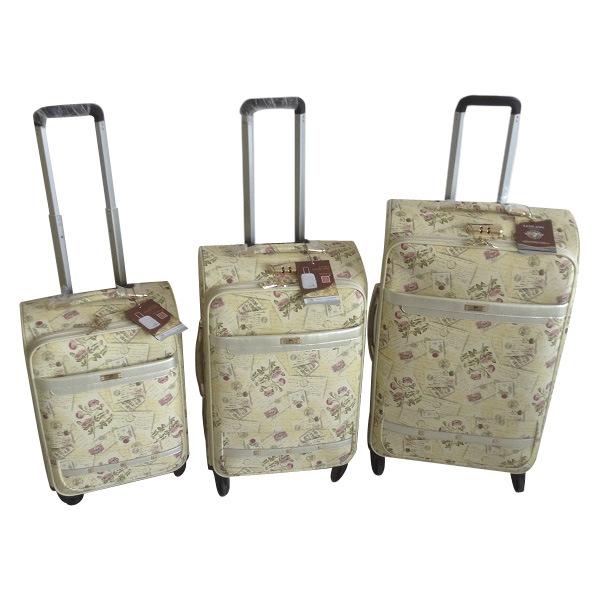 PU 3PCS Set Trolley Bag Luggage Suitcase Jb-D013