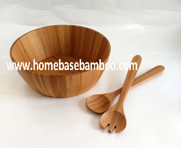 Nice Cheap Bamboo Salad Bowl & Server