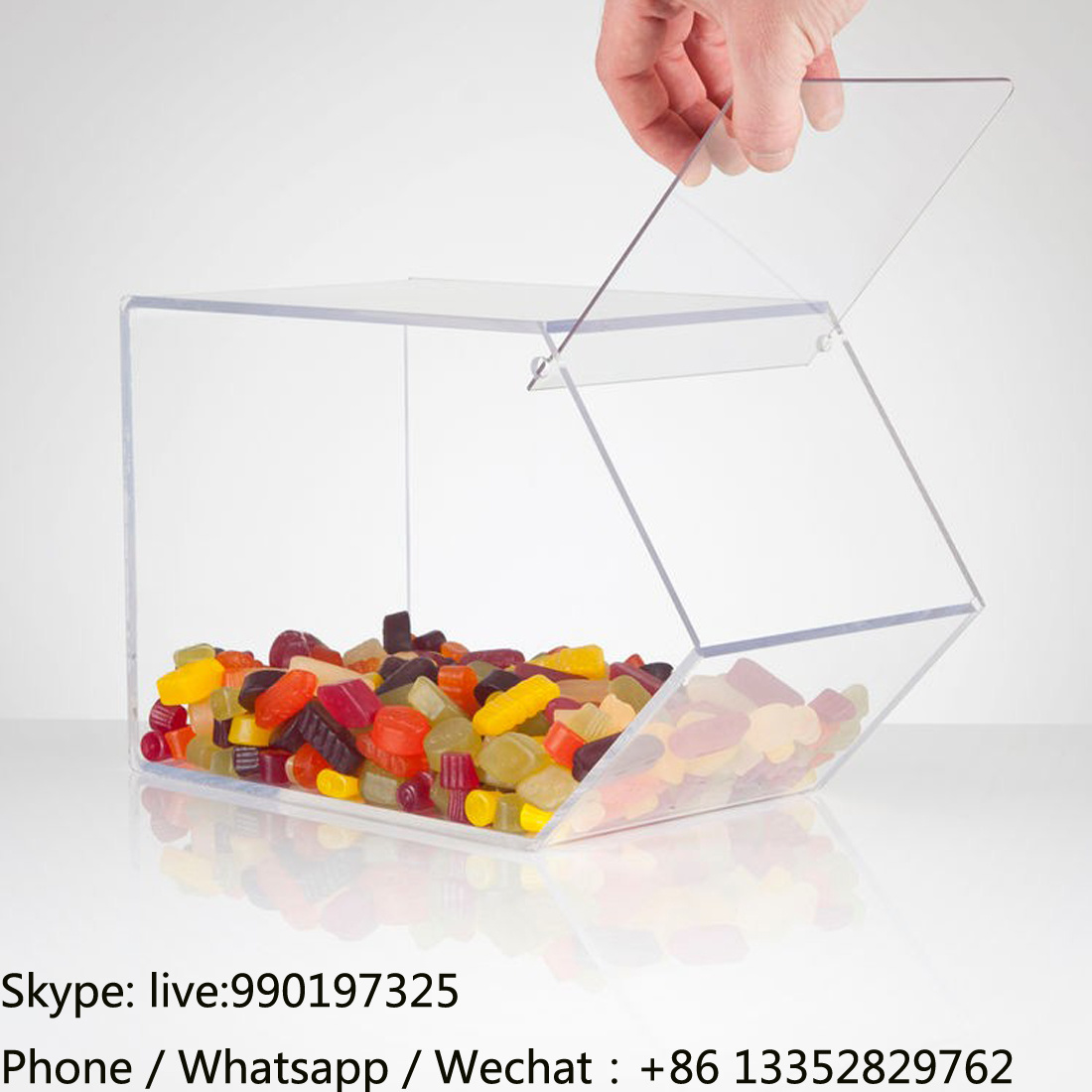 Virgin Clear Acrylic Candy Container with Lid