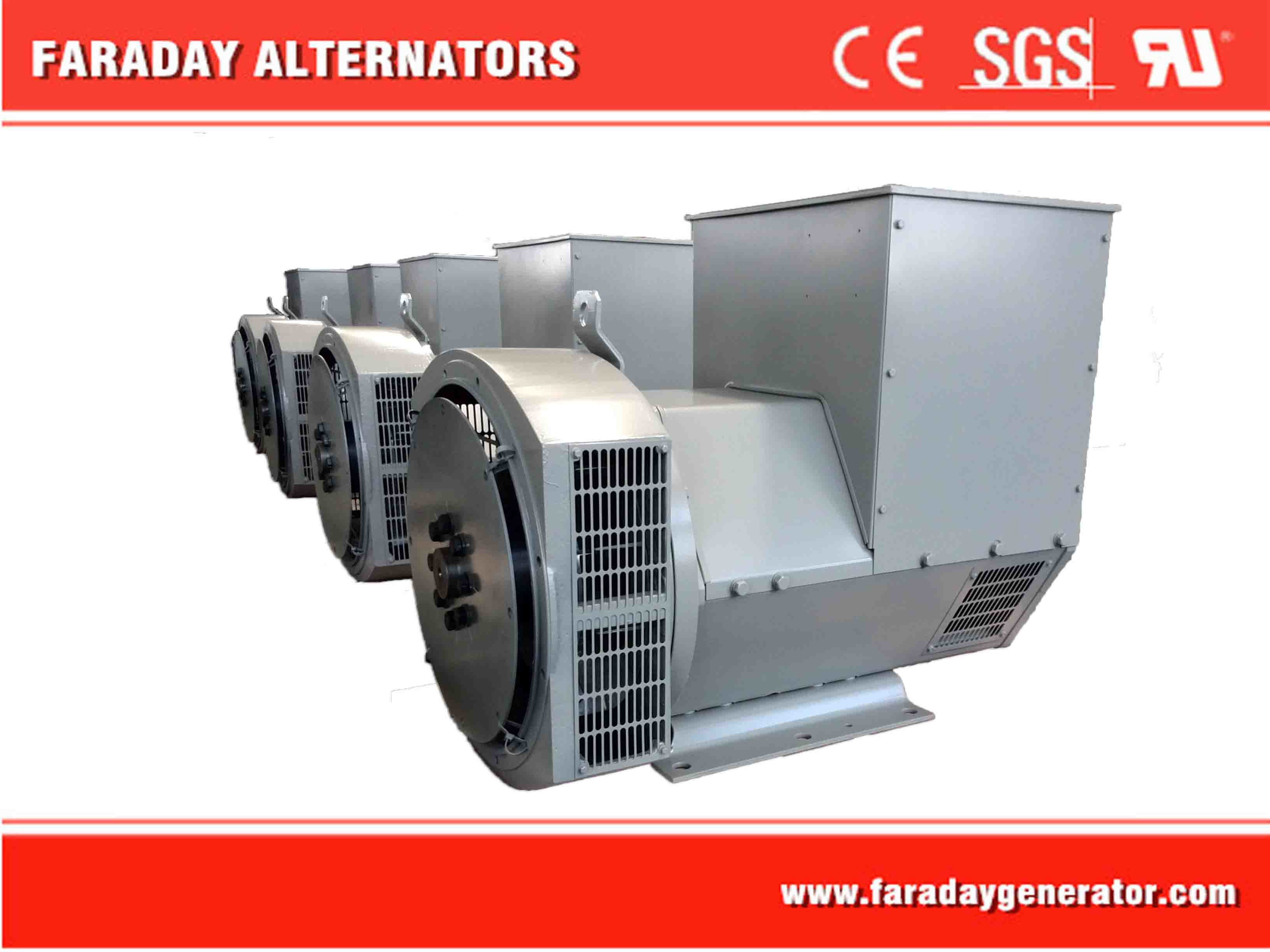 High-Efficiency Single (or double) Bearing H Class Brushless Alternator 250kVA/200kw (FD3H)
