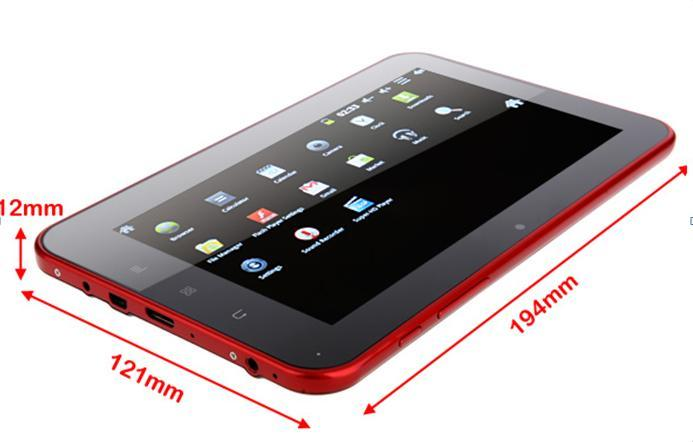 Capacitive MID, Google Android 4.0, 1.5GHz RAM 1g ROM8g WiFi 3G