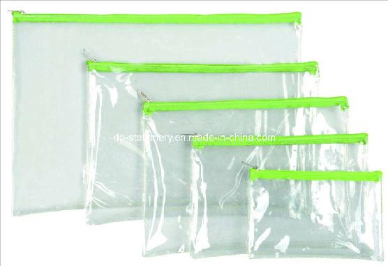 PVC Plastic Stationery Bag/Document Bag (V7102)