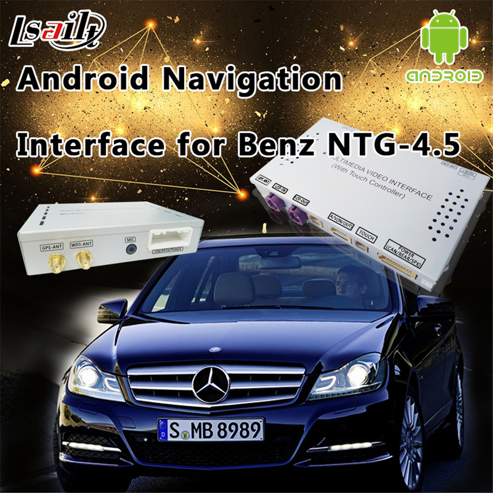 Car Android GPS Navigation Interface for Mercedes-Benz C/E/a/B/Ml/Glk (NTG-4.5)