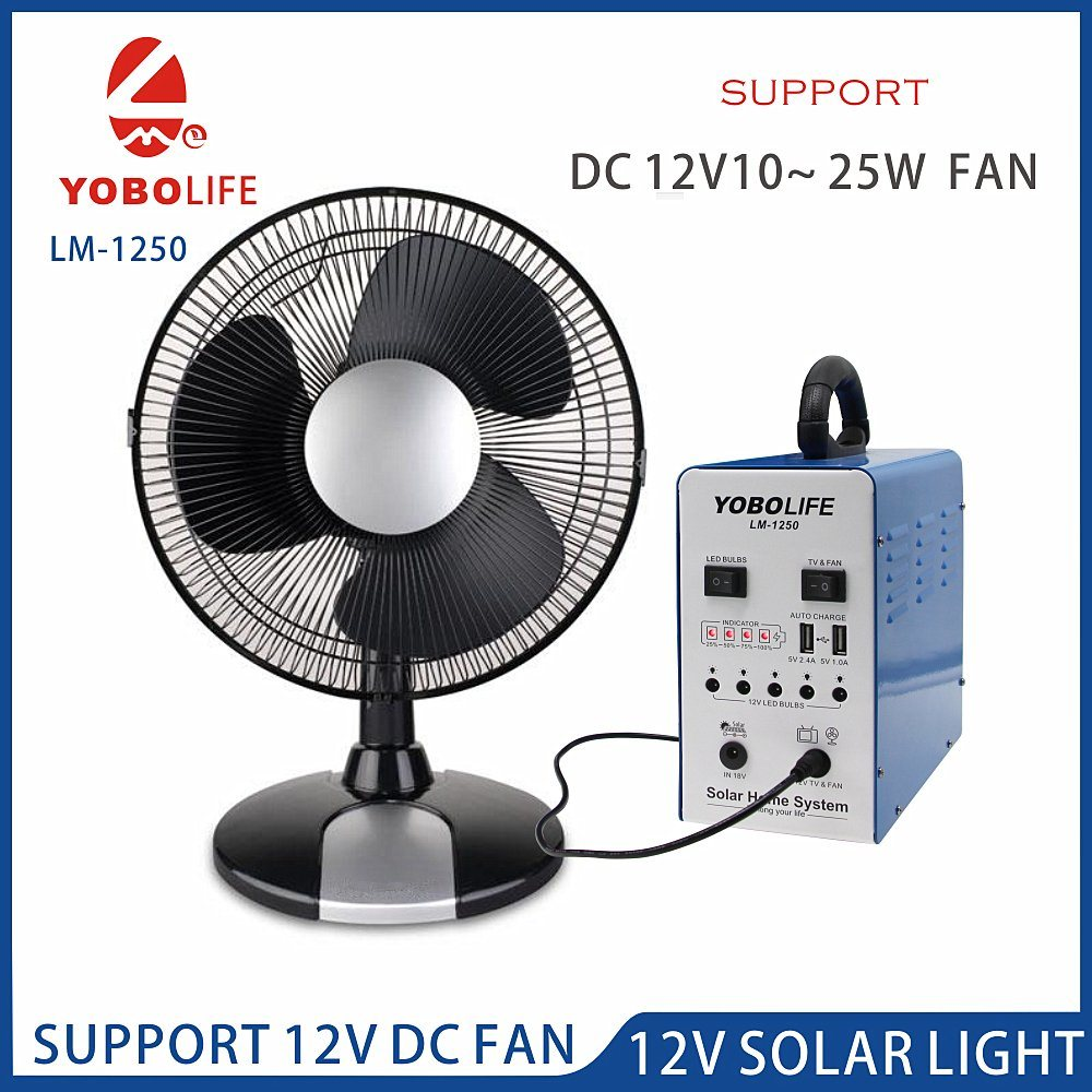 China Support 12V DC Fan Solar Camping Power System - China Solar ...