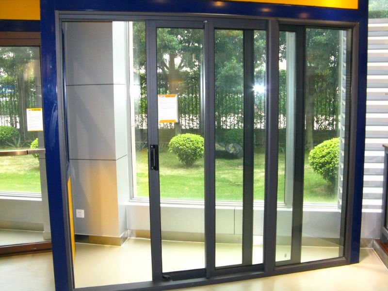 china tm150 sliding door triple rail with mosquito net