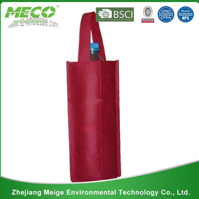 Custom Printed Organza Wine Bag/Organza Wine Pouch (MECO197)