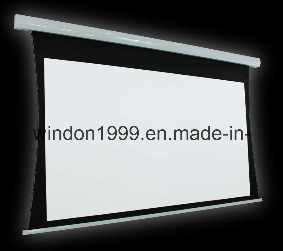 122 1 electric tab tensioned projector screen for Tab tensioned motorized projection screen