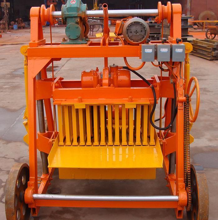 Cement Block Machines : China moving block machine concrete qmj