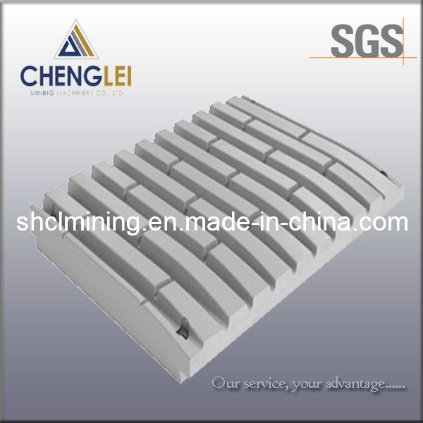 Crusher Part of Jaw Plate for Jaw Crusher for Metso Sandvik Symons Nordberg Telsmith Terex Pegson Automax Autosand Machines