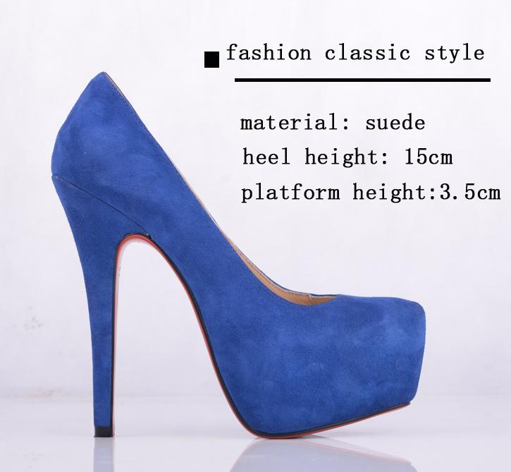 Pair blue women s shoes